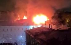 Cháy dữ dội tại Trường quân sự hàng đầu của Bộ Quốc phòng Nga, 100 người phải sơ tán