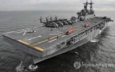 Mỹ đưa tàu sân bay 'mi ni' đến Hàn Quốc tập trận
