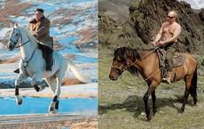 """Ông Kim Jong-un oai phong cưỡi bạch mã trên đỉnh núi thiêng, báo Mỹ châm chọc: """"Bắt chước"""" ông Putin!"""