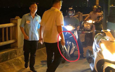 Lái xe, phụ xe buýt bị tố đánh người trên cầu Vĩnh Tuy nói không va chạm, người đi xe máy bảo có