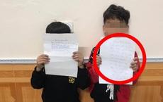2 học sinh viết thư cho bạn gái bị phạt, nội dung bản kiểm điểm khiến tất cả bật cười