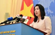 Bộ Ngoại giao trả lời thông tin tàu HD9 của Trung Quốc vào vùng biển Việt Nam