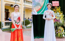 """Mặc yếm lên sân khấu, nữ sinh 2003 khoe nhan sắc """"chuẩn hoa hậu"""" khiến tất cả phải khen ngợi"""