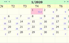 Tết Dương lịch 2020 được nghỉ mấy ngày?