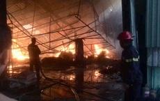 Đốt rác, công ty gỗ rộng hàng ngàn m2 trong khu công nghiệp bị thiêu rụi lúc rạng sáng