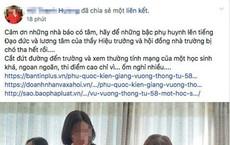 """""""Nữ hoàng ngọc trai"""" ở Phú Quốc lên mạng chửi hiệu trưởng: Con gái nhắn tin kêu xóa status nên tôi chỉnh lại"""