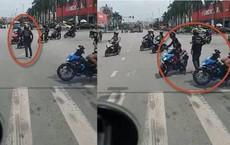 Công an xác minh nhóm người ngang nhiên chặn đường, dàn hàng ngang chạy xe máy qua ngã tư