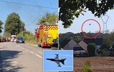 Tiêm kích F-16 gặp nạn, phi công nhảy dù khẩn cấp nhưng lại vướng vào dây điện cao thế