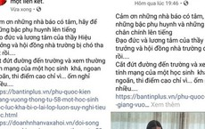"""Con ở lại lớp, """"nữ hoàng ngọc trai"""" ở Phú Quốc lên mạng chửi hiệu trưởng là """"chó tha"""""""