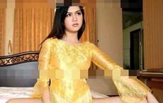 Sau Ngô Thanh Vân, xuất hiện ảnh Ngọc Trinh mặc áo dài không quần và ngồi phản cảm