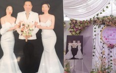 """MXH xôn xao về đám cưới """"1 ông 2 bà"""" ở Thái Nguyên: 2 cô dâu vô cùng thân thiết trong bức ảnh"""
