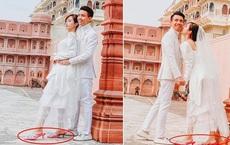 Vợ chồng đại gia Minh Nhựa lặn lội sang Ấn Độ chụp ảnh 8 năm ngày cưới nhưng lại bị đôi giày quá cỡ của Mina giật hết spotlight