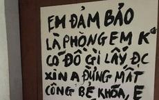 """Thanh niên dán giấy trước cửa phòng trọ """"dặn"""" trộm: """"Anh đừng mất công bẻ khóa"""", lí do khiến tất cả bật cười"""