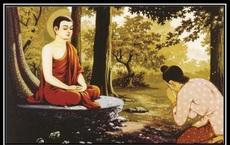 Muốn bố được lên cõi Trời, con trai đến tìm Đức Phật rồi được Ngài bảo ra chợ mua 2 thứ