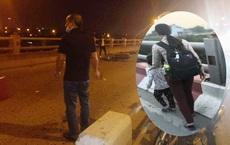 Hai mẹ con xin tiền trên cầu Thanh Trì bị xe máy đâm thương vong