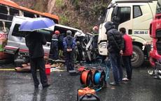 Xe khách, xe đầu kéo đâm nhau liên hoàn trên QL1,  ít nhất 1 người chết, 5 người bị thương
