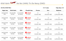 Giá vé máy bay giảm thấp kỷ lục: Hà Nội – Đà Nẵng còn 39.000 đồng