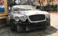 """Cận cảnh siêu xe Bentley Continental bị chủ nhân """"bỏ hoang"""" tới rỉ sét tại Hà Nội"""
