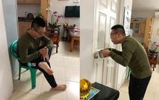 Bị vợ khóa phòng, anh chồng bưng nồi đứng trước cửa nhưng chỉ vài giây sau đã thay đổi cục diện
