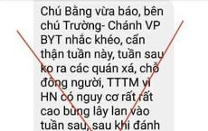 Bộ Y tế bác tin đồn Hà Nội bùng phát dịch bệnh Covid-19 trong tuần tới