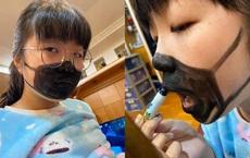 Tự chế khẩu trang vì lo ngại dịch bệnh, cô bé khiến dân mạng ngạc nhiên khi vừa hé miệng
