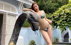 Kỳ Duyên diện bikini bé xíu khoe cơ thể nóng bỏng