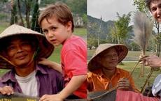 Bức ảnh cậu bé ngoại quốc tìm về người đàn ông chăn trâu ở Ninh Bình sau 15 năm từng gặp mặt khiến dân mạng bồi hồi