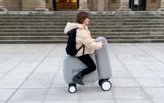 Nhật Bản phát minh thành công mẫu xe điện bơm phồng, có thể gấp gọn cho vừa vào balo khi không sử dụng