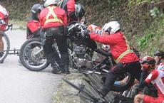 Nhà báo Dư Hải, Lê Nguyệt Minh và nhiều tay đua bị tai nạn giữa đèo