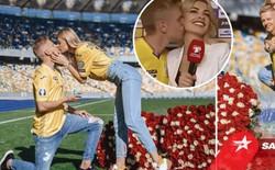 Choáng ngợp trước màn cầu hôn ngay trên sân vận động của sao Man City