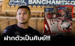 """Võ lâm Thái Lan tranh cãi khi nhiều đấu sĩ cùng quỳ lạy """"Thánh Muay Thái"""" Buakaw"""