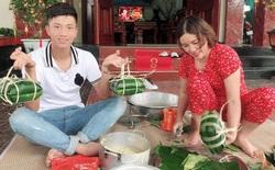 Phan Văn Đức về nhà vợ phụ gói bánh chưng, Hà Đức Chinh giữ dáng đón Tết 2020