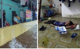 Nỗi khổ của sinh viên mùa mưa: Phòng ốc ngập lênh láng, quần áo sách vở ướt nhẹp, cả xóm trọ thi nhau tát nước