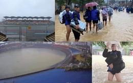 """Báo Thái phát hoảng trước cảnh tượng sân bóng ở V.League 2 bỗng biến thành… """"hồ bơi"""""""