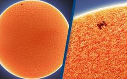 Khoảnh khắc trạm vũ trụ ISS bay ngang qua Mặt Trời