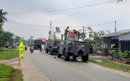 Sụt núi, Phó tư lệnh Quân khu 4 cùng đoàn cứu hộ bị mất liên lạc