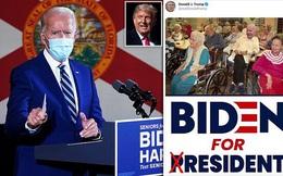 Ông Trump đăng ảnh 'chế' cảnh đối thủ Joe Biden ngồi xe lăn trong viện dưỡng lão