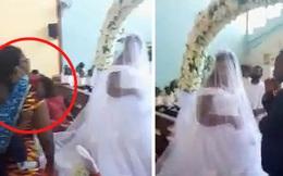 """Hôn lễ đang diễn ra thì vợ và con nhỏ của chú rể bất ngờ xuất hiện """"bóc phốt"""" tại trận, cảnh tượng đám cưới trở nên vô cùng hỗn độn"""