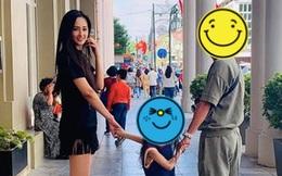 Mai Phương Thuý nắm tay bé gái và tươi cười hạnh phúc bên trai lạ, cách xưng hô 'mẹ và con gái' gây chú ý