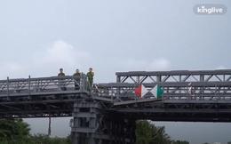Sà lan tông sụp nhịp cầu sắt An Phú Đông