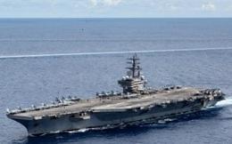 Hải quân Mỹ đăng video về hoạt động của tàu sân bay USS Ronald Reagan ở Biển Đông