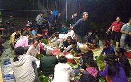 Người dân Nghệ An thức thâu đêm nấu bánh chưng để kịp gửi hỗ trợ đồng bào vùng lũ