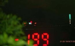 CSGT xử lý ô tô Mercedes chạy với vận tốc 199km/h
