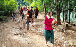 Nghệ An: Sợ sạt lở đất, hàng nghìn người được sơ tán đến lán trại khẩn cấp