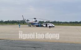 Trực thăng đưa 2 lãnh đạo xã bị thương nặng ở Quảng Trị vào Huế cấp cứu