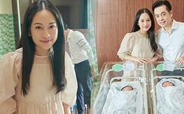 Dương Khắc Linh hé lộ diện mạo 2 quý tử song sinh, Sara Lưu lộ diện tươi tắn hậu sinh nở!