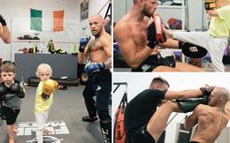 Conor McGregor đăng ảnh tập luyện 'cực sung' nhằm chuẩn bị cho màn tái xuất UFC nhưng không ngờ lại bị cậu quý tử 3 tuổi chiếm trọn spotlight