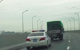 Xử phạt nghiêm hai tài xế không nhường đường cho xe ưu tiên trên cao tốc