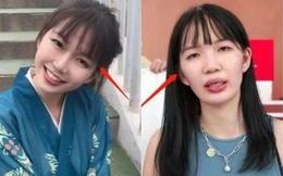 """Hotgirl Trung Quốc khiến khán giả """"rùng mình"""" vì để lộ nhan sắc thật trong lúc livestream"""