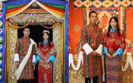 """Nàng công chúa """"vạn người mê"""" của Bhutan bất ngờ lên xe hoa, nhan sắc cô dâu, chú rể gây chú ý"""